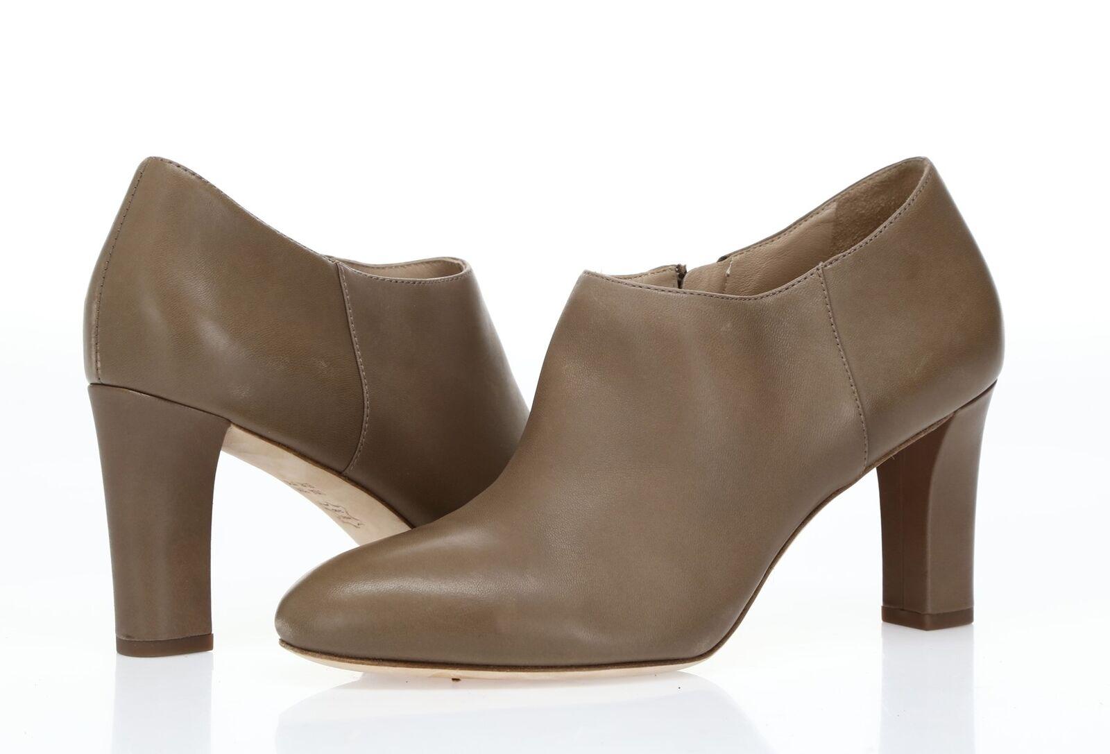 Via Spiga Cuero gris Pardo Mujer Tobillo Cremallera Cremallera Cremallera Botines Talla 7.5 M (37.5)  moda clasica
