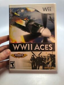 Nintendo-Wii-WWII-2-Aces-Wings-Series-Video-Game-Tested-Complete-Great-Condition