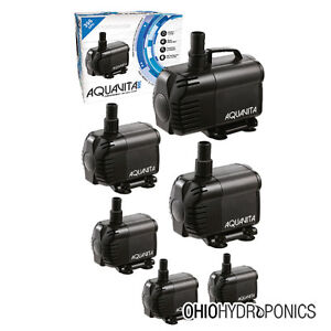 Aquavita 100 1056 gph submersible water pump hydroponics for Hydroponic pump