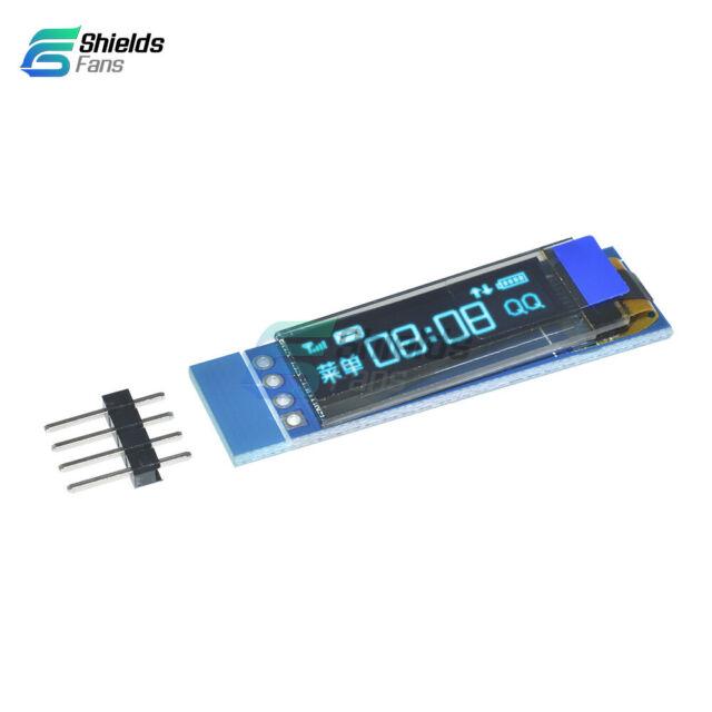 0.91'' 128x32 IIC I2C Blue OLED LCD Display DIY Module DC3.3V 5V For PIC Arduino