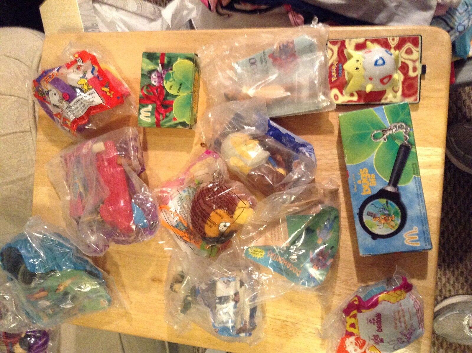 Lot Of 22 Sealed 1990 2000 Era Kids Toys McDonalds Burger King star wars pokemon