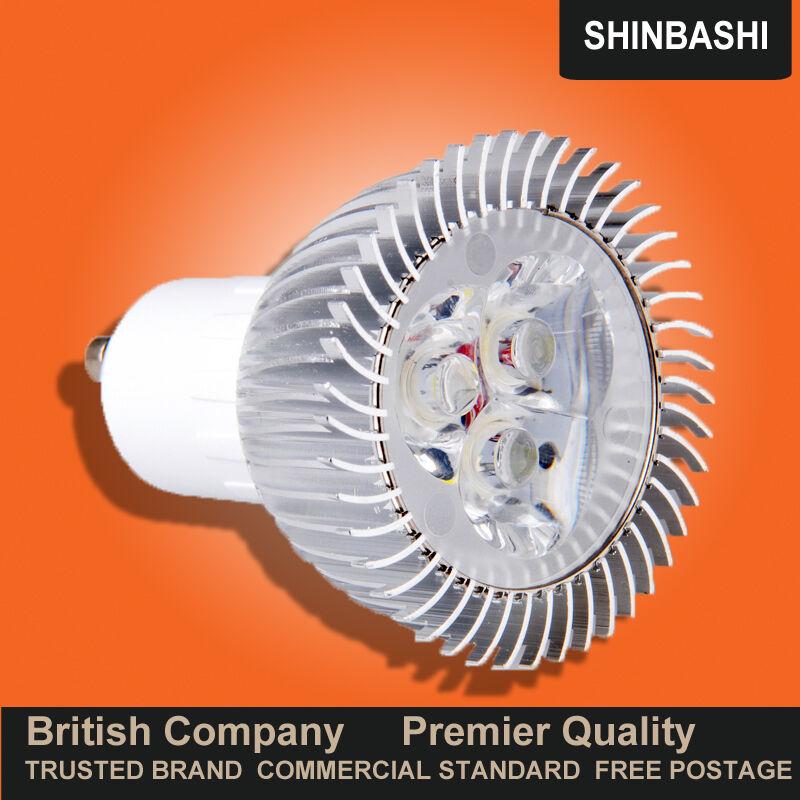 Premier Grandes 3w 4w Led GU10 Bulbo Lámpara De Techo Parojo abajo Spot Luz del Reino Unido Bombillas