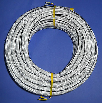 """3//8/"""" x 50/' WHITE with BACK TRACER MFP Cover Bungee Made USA! Shock Cord"""