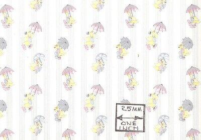 170D2  MiniGraphics  wallpaper dollhouse 1//12 scale 1 sheet Ogden Floral