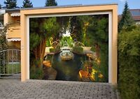 3d Nice Fountain Garage Door Murals Wall Print Decal Wall Deco Aj Wallpaper Au