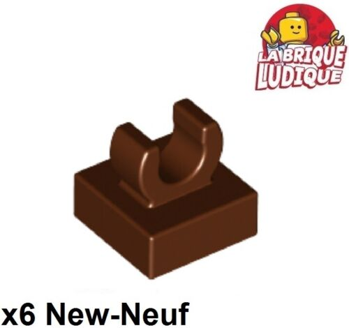 Lego 6x tile modified plate hook clip 1x1 brown//brown 15712 new répugnant