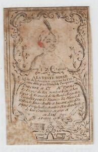 Kupferstich-Paris-1756-Trade-Card-of-Larcher-stationer-Geschaeftskarte-Werbung