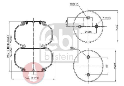 Febi BILSTEIN MOLLA SOFFIETTO sospensioni pneumatiche 39420