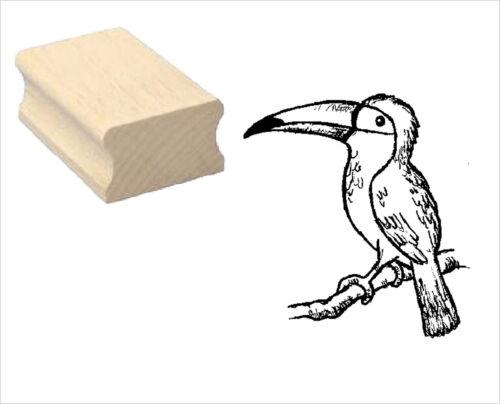 Motivstempel « TUKAN » Motiv Stempel Scrapbooking Basteln Dschungel Tropen Vogel