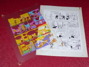 Bd-Marciales-TONY-LAFLAMME-Volapuk-Lamina-Colores-Celuloide-Original-1974