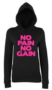 Hoodys DROP IT LIKE A SQUAT Ladies Hoodie 8-18 Workout Gym Running Printed Pink