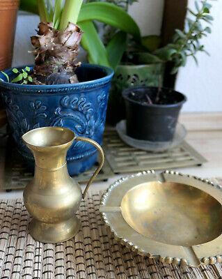 * Messing Vase Gefäß Kanne 14 Cm Hoch 249g Echt Vintage 1970er Jahre Top* Geeignet FüR MäNner, Frauen Und Kinder