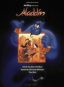 Aladdin Sheet Music Piano Vocal Guitar Songbook NEW 000312480