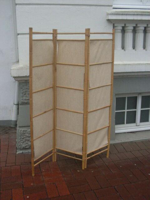 Sichtschutz Paravent Rosenbemalung Vintage Raumteiler Shabby Trennwand Stellwand