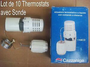 lot de 10 robinet thermostatique + sonde,,chauffage,,radiateur ... - Radiateur Avec Robinet Thermostatique