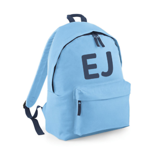 Personalised Initials Rucksack Backpack Back to School Bag Custom Many Colours