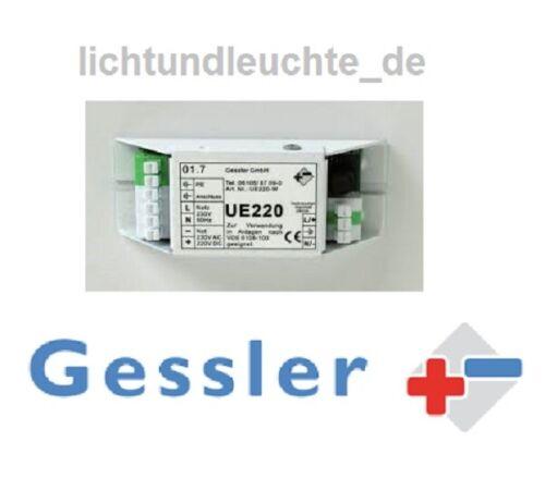 Umschaltweiche UE220 Gessler Notlicht Einbau für Notleuchte Sicherheit Aktion