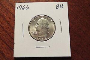 1966 Washington Quarter (BU)