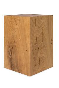 Dekosaule 30x30x90 Cm Holz Eiche Massivholz Saule Podest Blumensaule