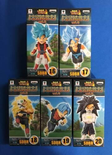 5 Figures SET new world WCF banpresto SUPER DRAGON BALL HEROES vol.4 japan