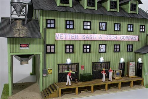 O Gauge Sieard Model Train Vetter Sash & Door Building For Lionel & MTH