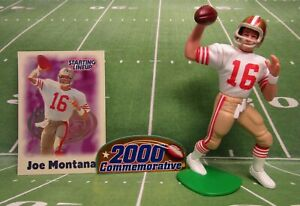 2000 JOE MONTANA Starting Lineup Football Commemorative Figure & Card - SF 49ers