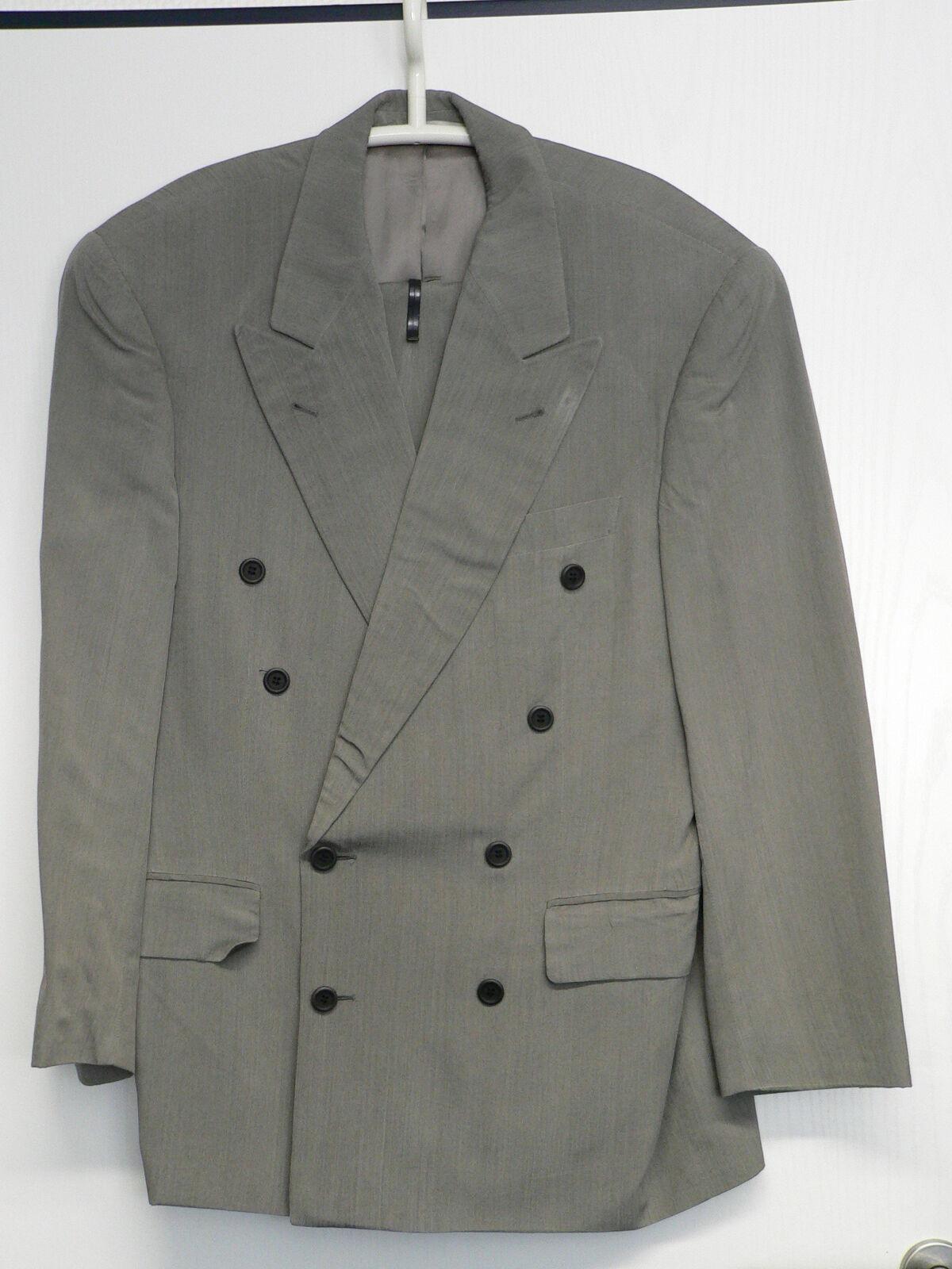 Herren Herren Herren Anzug, WINDSOR, Zweireiher, Seide+Viskose, Größe 46, hellgrau 7e6c29