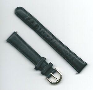 Cinturino-orologio-donna-Darlena-originale-Vera-pelle-morbida-Ansa-14-Nero