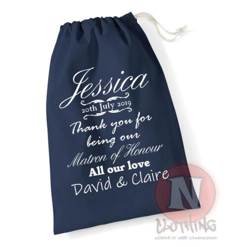 Personalised Wedding Day Gift Bag Best Man Bridesmaid Flower Girl Groomsman Page
