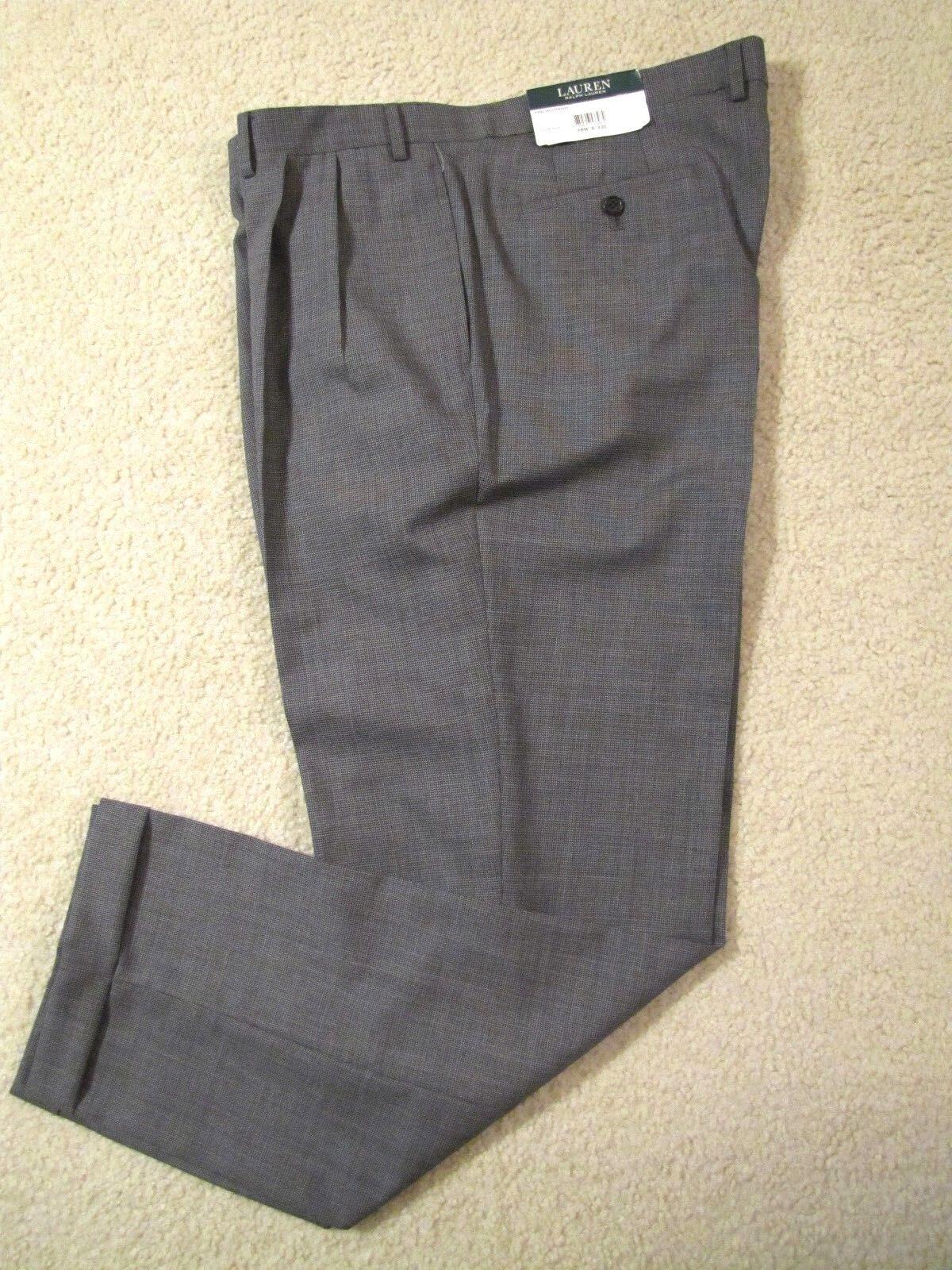 LAUREN RALPH LAUREN LINED 100% LW WOOL DRESS PANTS- MADE IN INDIA - 38 X 32