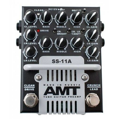 AMT Electronics SS-11A 3-Channel Dual Tube Guitar Preamp  with power adaptor