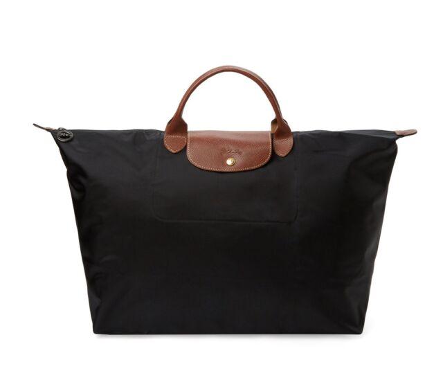 f8dcd796dcc Longchamp Le Pliage Travel Nylon Handbag Bag in Black Authentic for sale  online | eBay