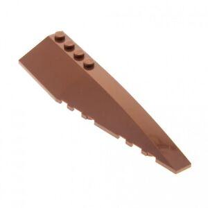 1-x-Lego-System-Keil-Bau-Platte-reddish-rot-braun-12x3-Fluegel-rechts-fuer-Set-Sta