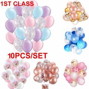 10pcs-12-034-Confetti-Latex-Balloon-Helium-Birthday-Wedding-Hen-Party-Baby-Shower