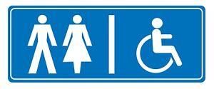 2 X-toilettes Spécifié Signe Autocollante (amovible) Vinyle Imperméable Autocollant-afficher Le Titre D'origine Qdgdnjca-07231917-710718057