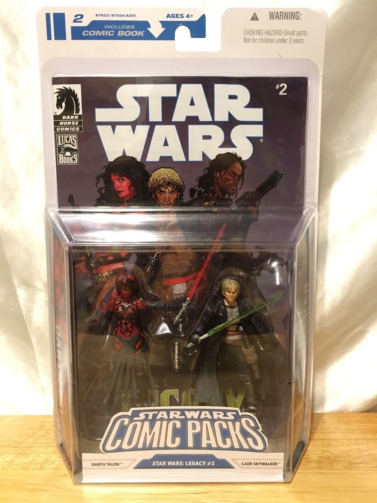 Figura De Estrella Wars Comic Packs Darth Talon y Cade Skywalker 3.75 Nuevo En Caja