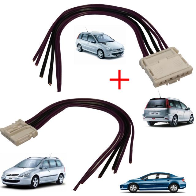Kit Conector de Luces Traseras para Peugeot 407 Faro Trasero Puerta Bombilla