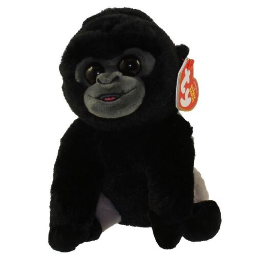 "Ty Beanie Baby Babies 6/"" Regular Stuffed Plush BO the Silver Back Gorilla MWMTS"