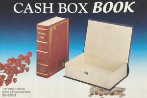 "Metal Diversion Book Shape Cash Box Book Safe Box 3/"" x 7.5/"" x 11/"" H Colors vary."