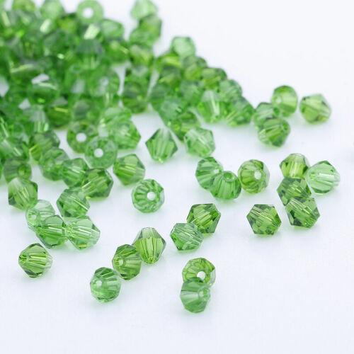 À faire soi-même Fashion Jewelry 1000pcs Acrylique Cristal 4 mm Bobine biconique Perles #5301 U Pick colors