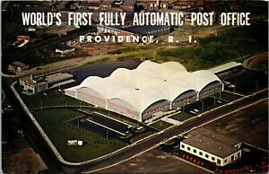 Providence-RI-World-039-s-First-Fully-Automated-Post-Office-Postcard-unused-1960s