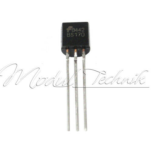 10Stks MOSFET Transistor ON ONSEMI //MOTOROLA//FAIRCHILD TO-92 BS170 BS170G New