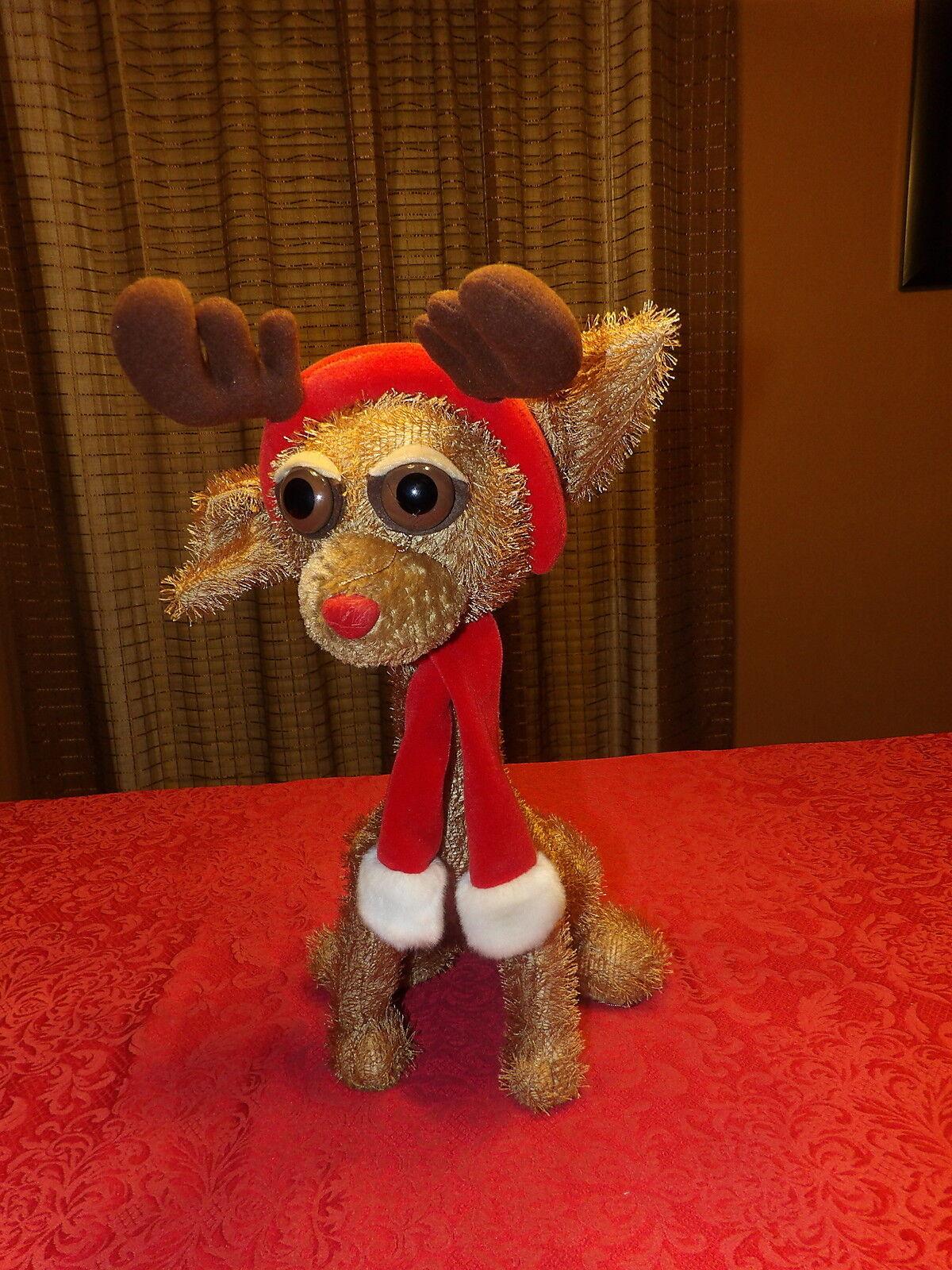 Htf 18 Twisted Whiskers Reindeer Dog W Antlers Scarf American