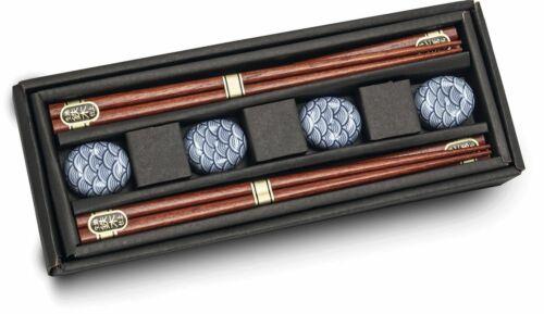 4er Set 4 paire des baguettes + 4 Céramique Armoires//attrayante Emballage