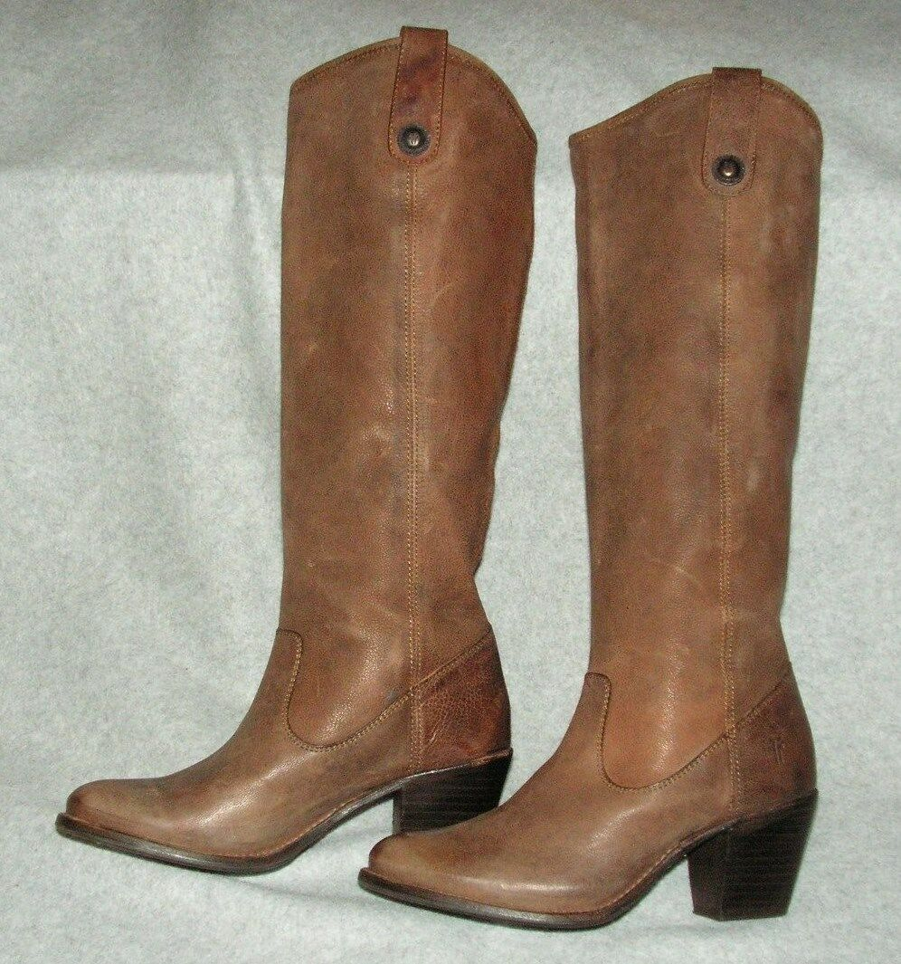 Frye Womens Jackie Button Riding  Leather Boots size 6 B
