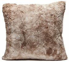 Chanasya Super Soft Fuzzy Fur Faux Fur Cozy Warm Fluffy Beige Fur Throw Pillow