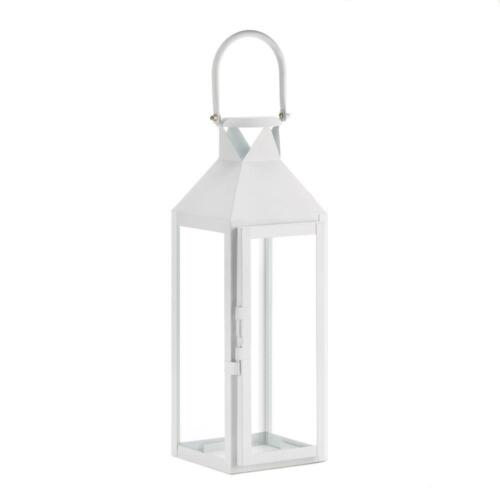 "15 bulk large WHITE 15/"" tall Candle holder Lantern lamp wedding table decoration"