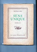 Nicolas RIES - Sens unique - Roman