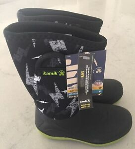 """NEW ~ KAMIK """" Bluster2"""" Youth Black Boots~~Size 1"""