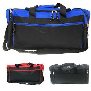 bde1e520ae3e Duffle Bags w Shoulder Strap Sports School Gym Travel Luggage Carry ...